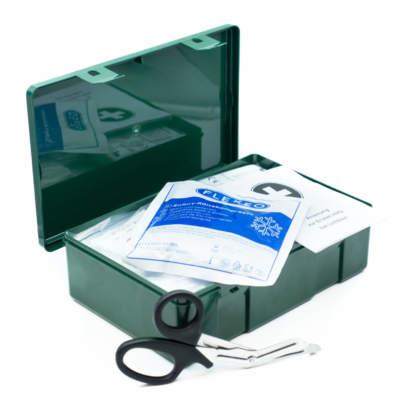 Betriebsverbandkasten grün mit DIN 13157 Inhalt