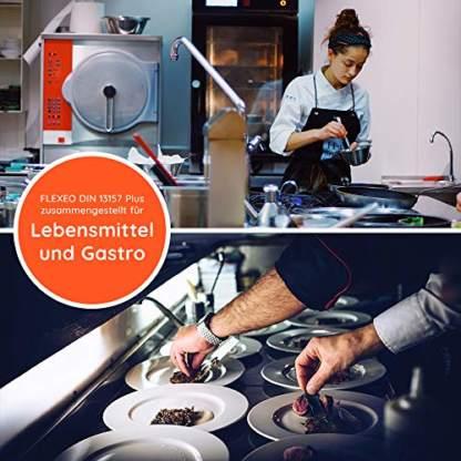 FLEXEO DIN 13157 Plus für Lebensmittel und Gastro