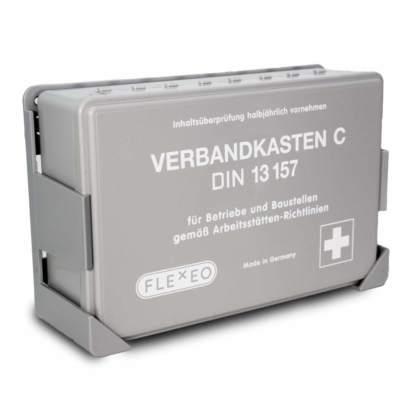 Betriebsverbandkasten grau DIN 13157 für Betriebe und Baustellen