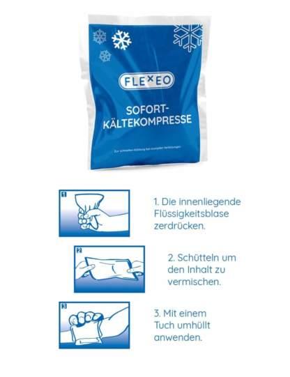 FLEXEO Sofort-Kältekompresse - Gebrauchsanweisung