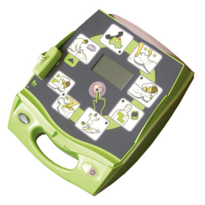Frontansicht des ZOLL AED Plus Halbautomaten
